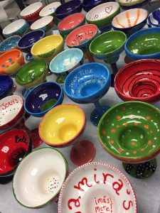 Pottery Painting - Painted Pottery Margarita Glasses - The Creativity Cafe
