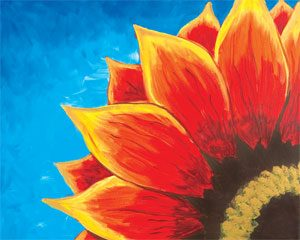 Canvas Painting - red_sunflower - The Creativity Cafe