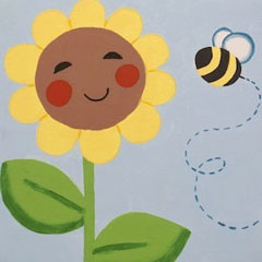 Canvas Painting - sunny_smiles- The Creativity Cafe