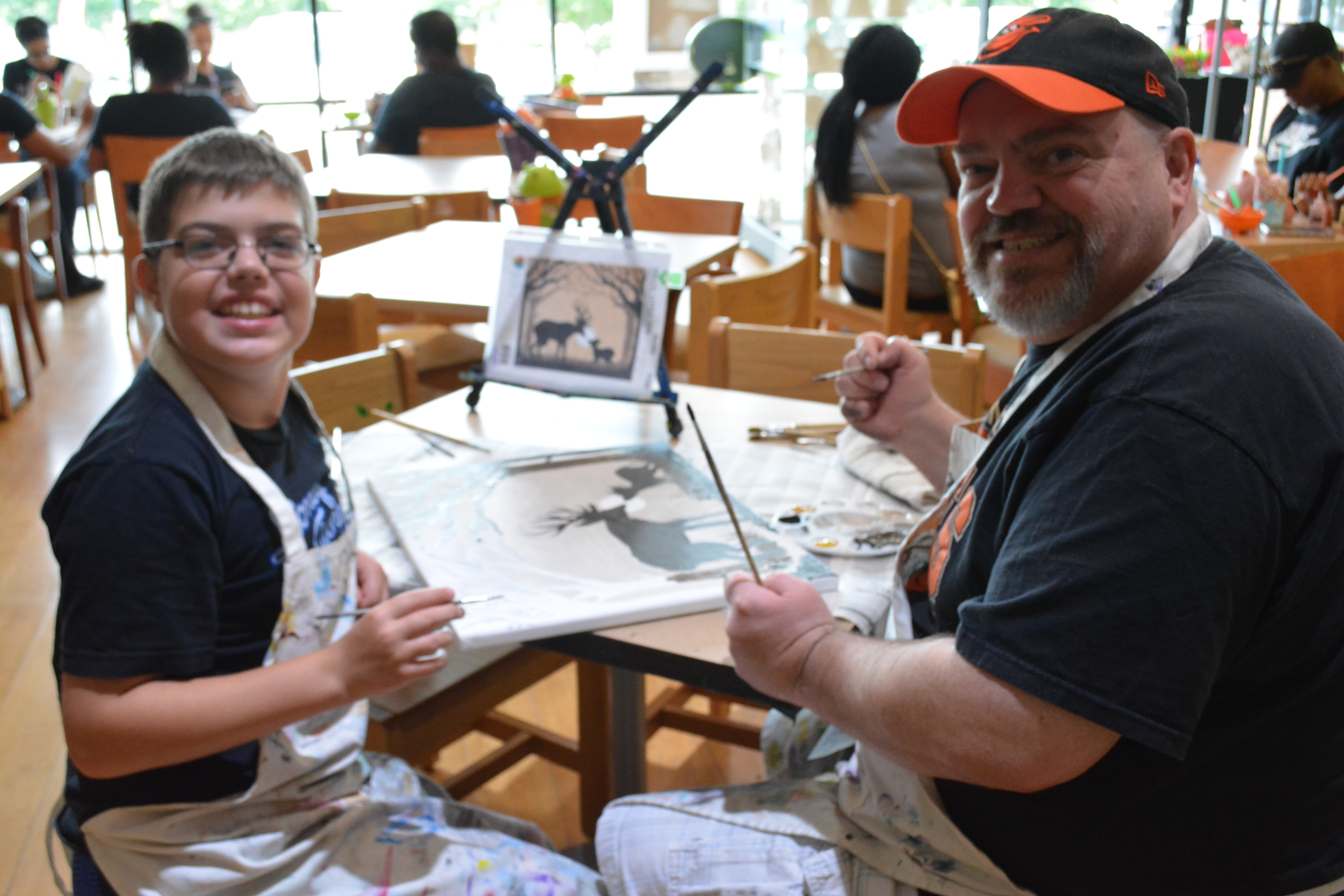 Father Son Family Time at The Creativity Cafe