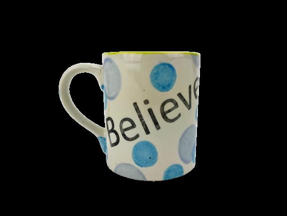 Sample Believe Mug at Creativity Cafe